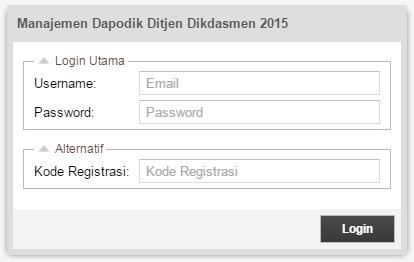 Manajemen Dapodik Ditjen Dikdasmen 2015